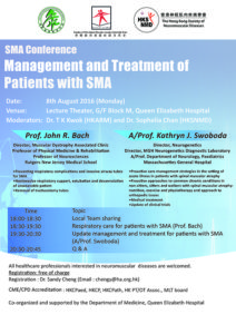 Event Flyer of SMA Conference: Management and Treatment of Patients with SMA.